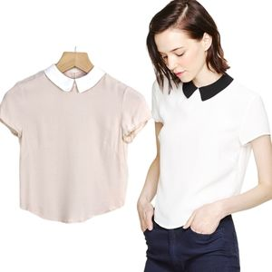 Aritzia Sunday Best Patterson Collared Blouse Top